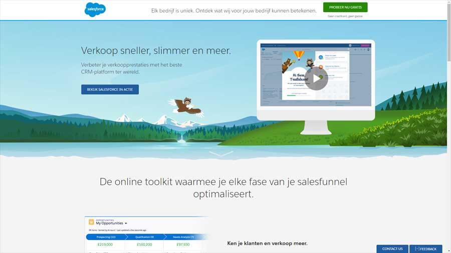 WebWinnaar - Een sterke landingspagina maken - Salesforce